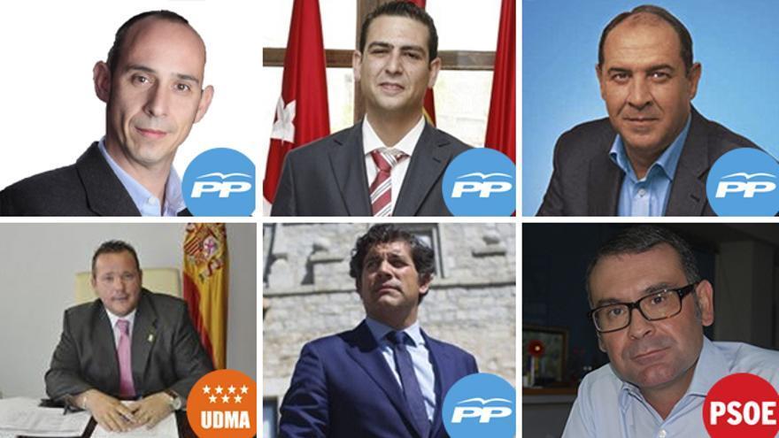 Los seis alcaldes detenidos en la operación anticorrupción