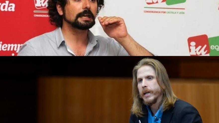 José Sarrión y Pablo Fernández, líderes autonómicos de Izquierda Unida-Equo y Podemos.