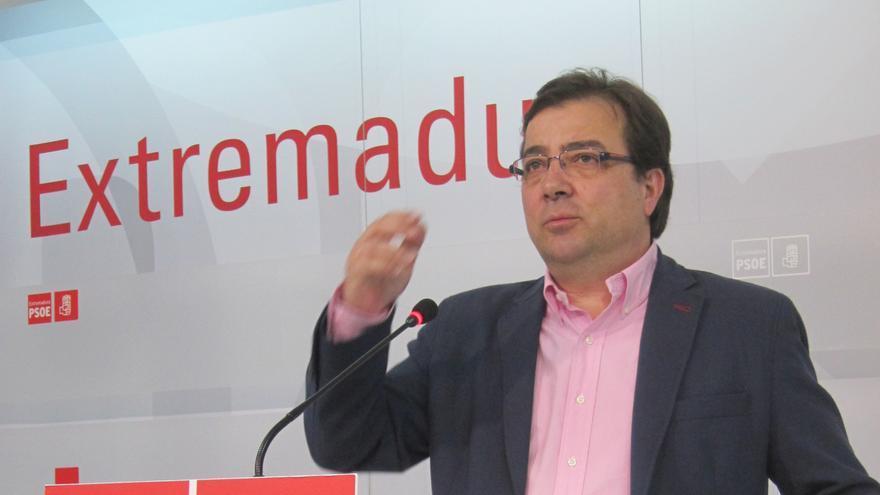 """Vara ruega al PP que """"no divida sino que una"""" y recuerda que Extremadura tiene """"182.000 problemas graves"""""""