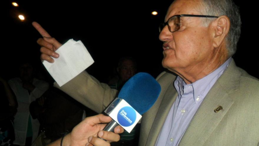 Domingo González Arroyo en las elecciones municipales de 2015.