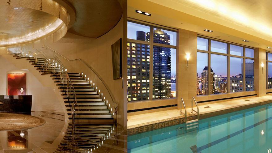 Zonas comunes del Hotel NY Oriental donde se alojó Fermín Lucas durante la feria de arte contemporáneo Armory Show
