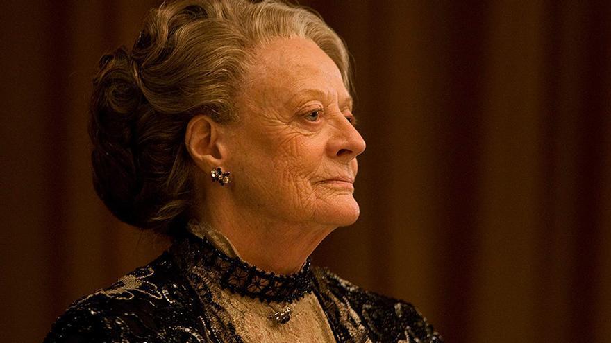 Maggie Smith, en un capítulo de Downton Abbey