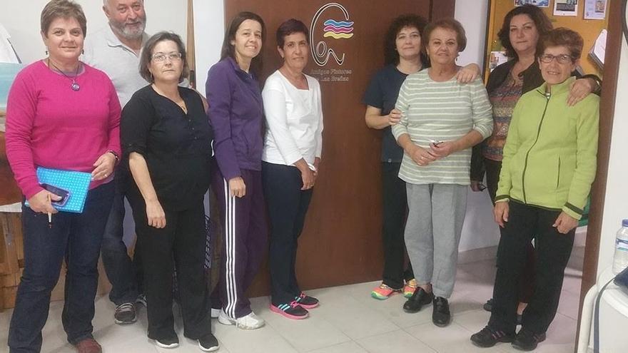 En la imagen, miembros de la Asociación Amigos Pintores de Las Breñas.