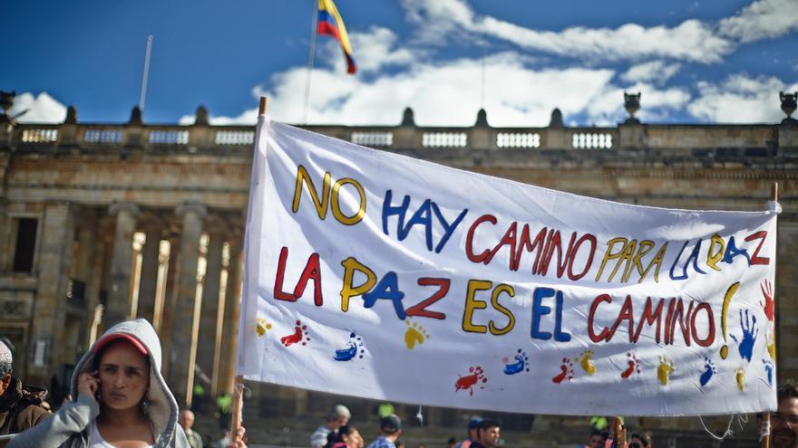 Marcha por la paz en Bogotá   Foto: Geraldkurt