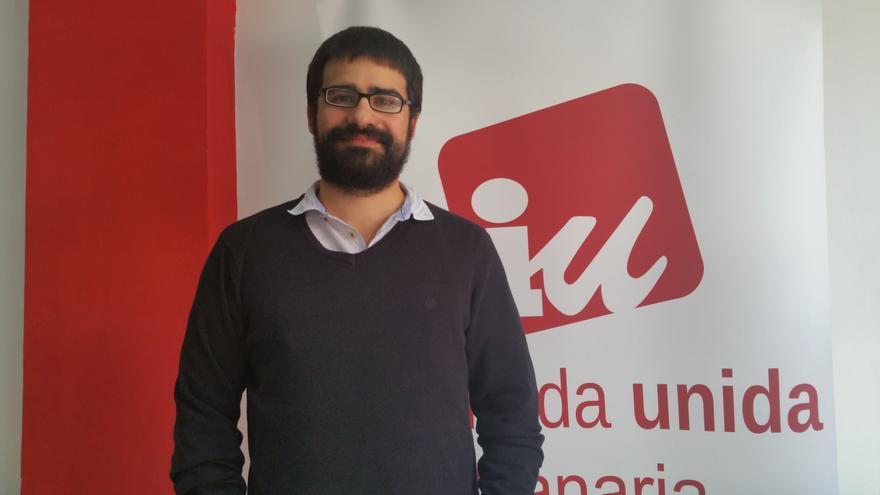 Felipe Ramos es concejal de IUC en Los Llanos de Aridane. Foto: LUZ RODRÍGUEZ.