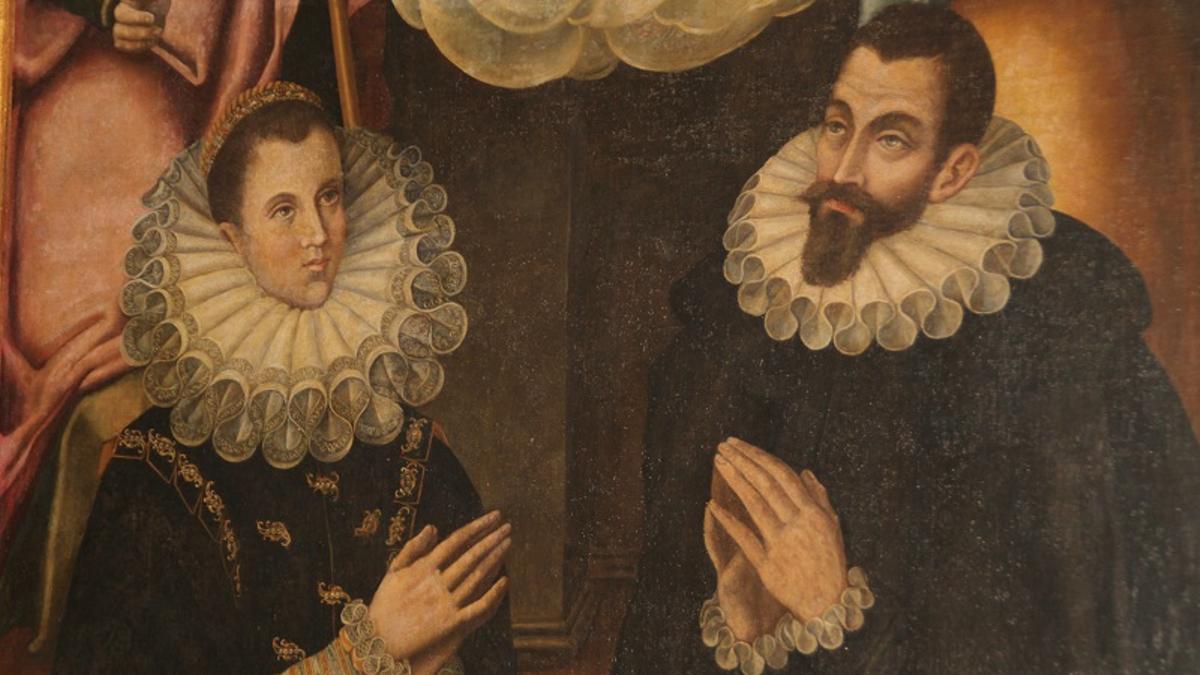 Cuadro en el que aparece Magdalena Pacheco Avilés junto a su hermano Rodrigo, que dio pie  a la investigación