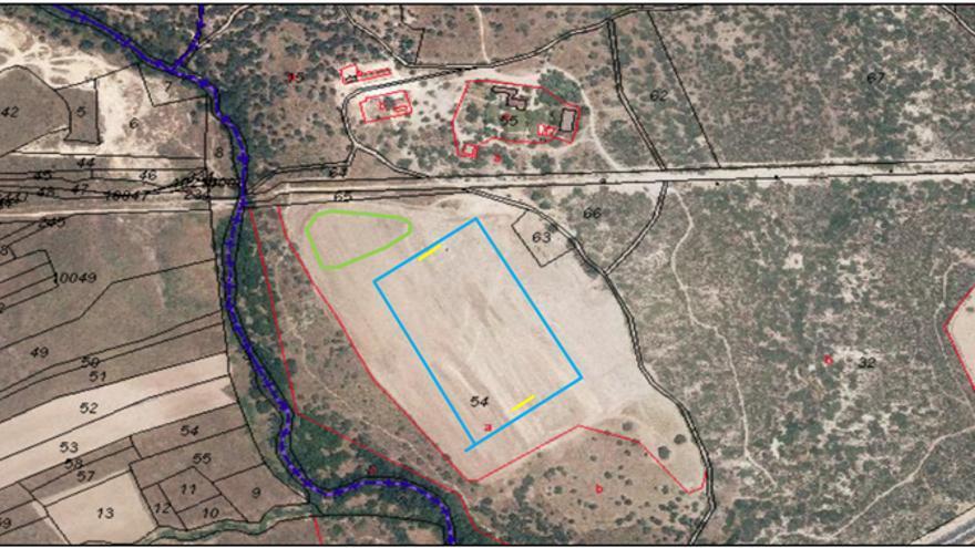 Imagen utilizada por el Estudio de Impacto Ambiental para la finca Aznar-Oriol