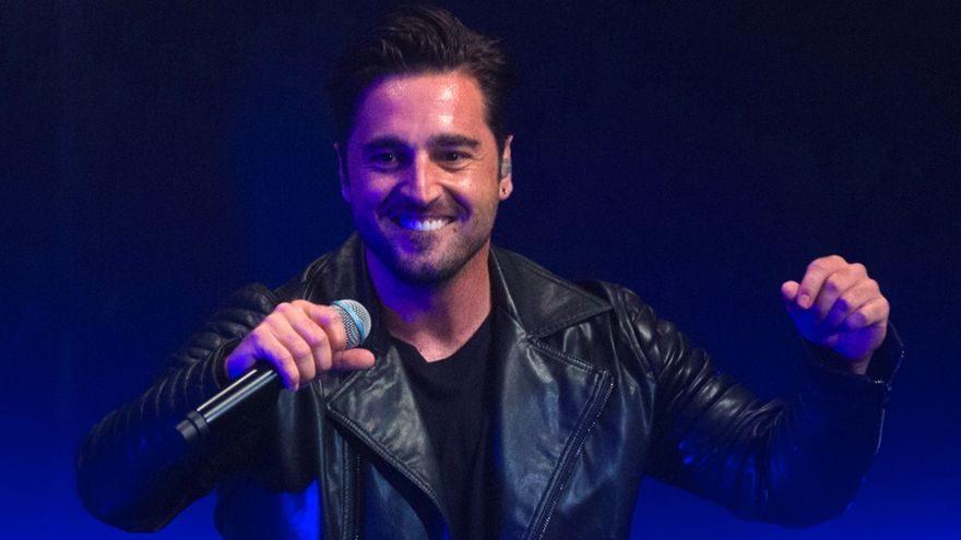 David Bustamante en un concierto