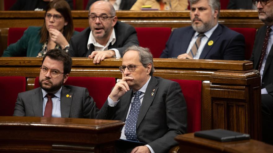 El Parlament rechaza las Cuentas de la Cámara en su primera votación sin Torra