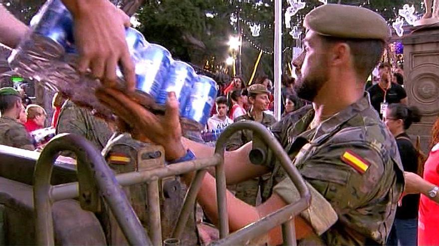 Mimebros de Ejército, participando en el Telemaratón Solidario '#CompartirCanarias'