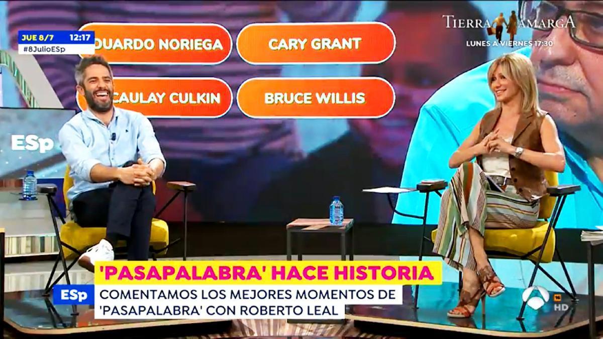 Roberto Leal y Susanna Griso en 'Espejo Público'