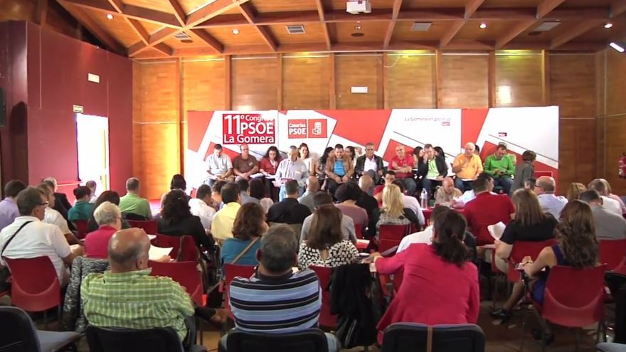 Imagen del último congreso insular del PSOE celebrado en noviembre de 2012