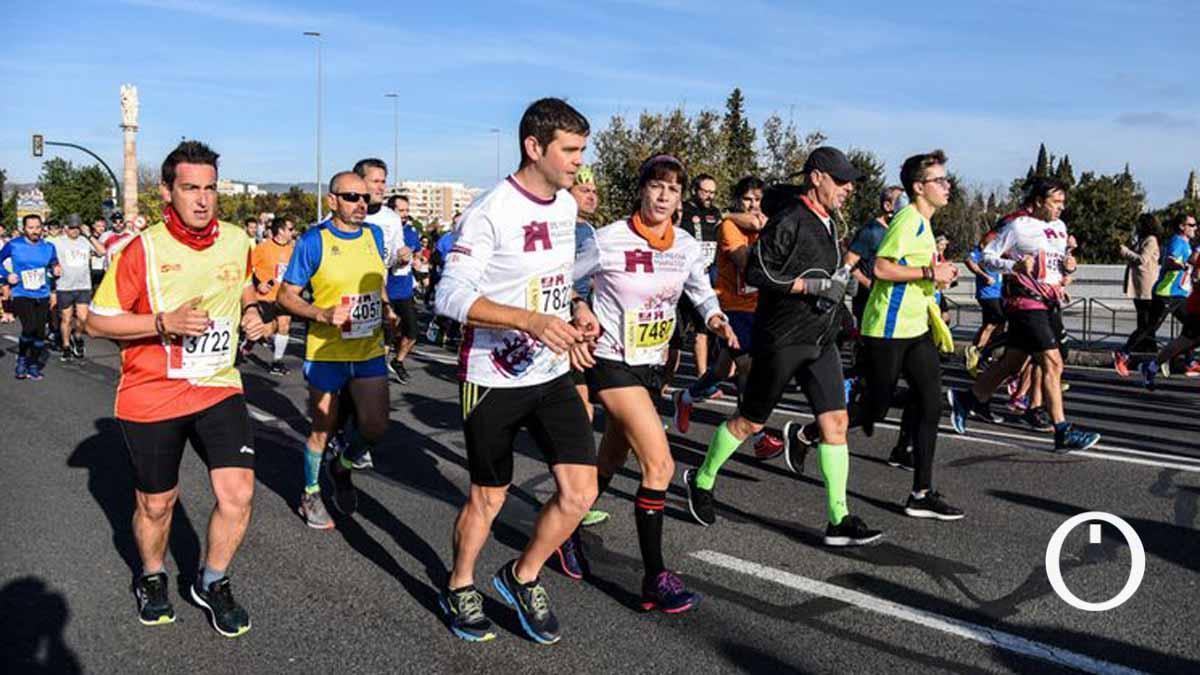 Atletas en la última edición de la Media Maratón de Córdoba