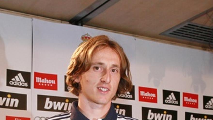 Luka Modric, presentado en el Real Madrid