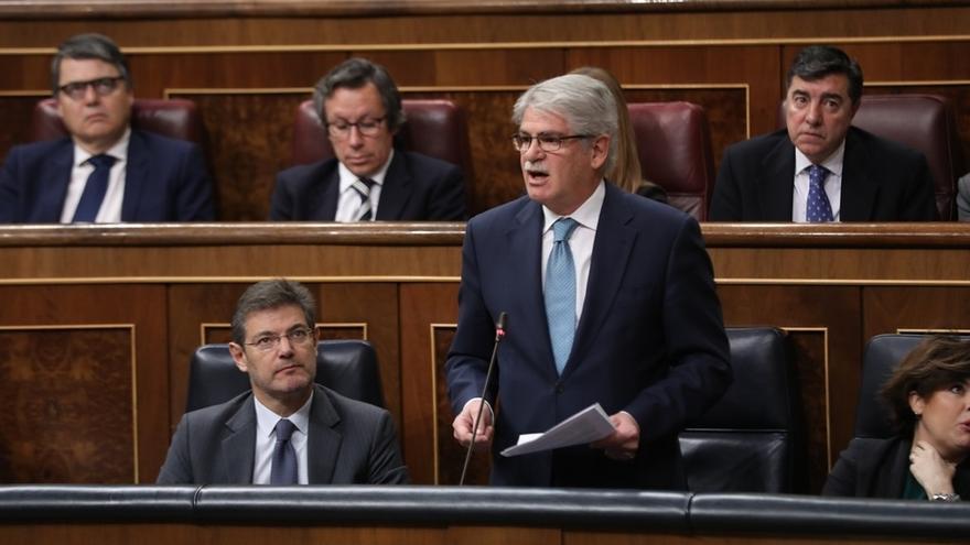El ministro de Asuntos Exteriores y Cooperación, Alfonso Dastis, en el Congreso de los Diputados