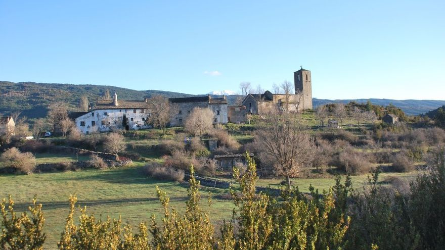 Vista de Aineto, en el Alto Gállego.