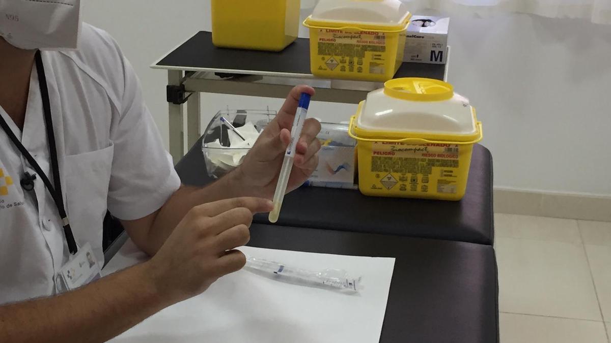 Muestra para prueba PCR.