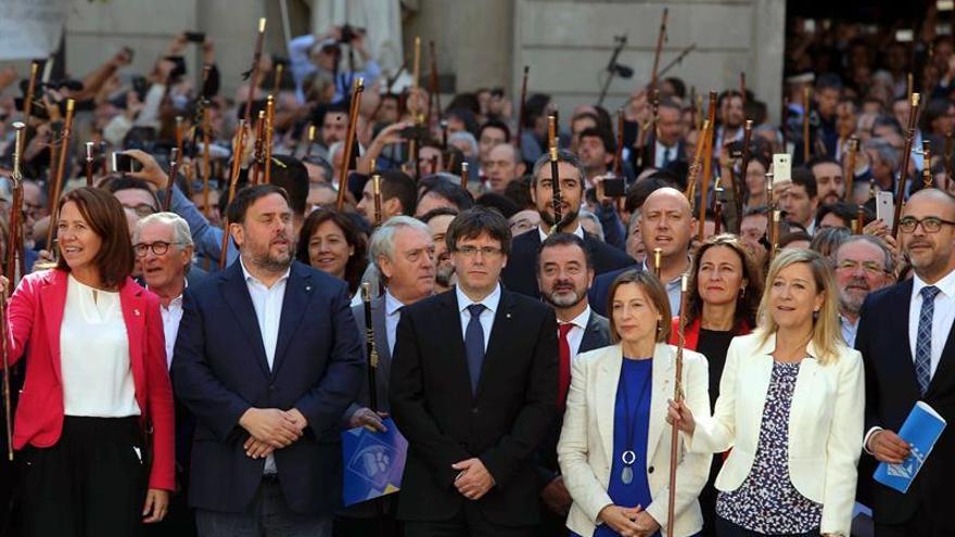 """Puigdemont al Gobierno: """"Que no subestimen la fuerza del pueblo de Cataluña"""""""