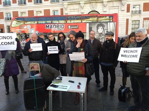 Rueda de prensa de la campaña ciudadana contra la turistización   Fotografía: FRAVM