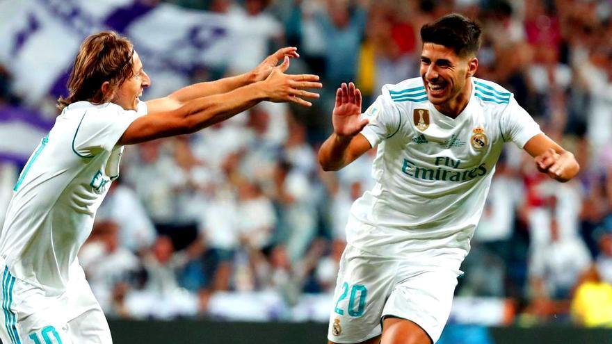 Asensio en la Supercopa de España con el Real Madrid
