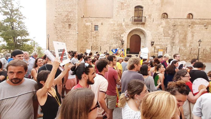Manifestación antimonárquica en Mallorca