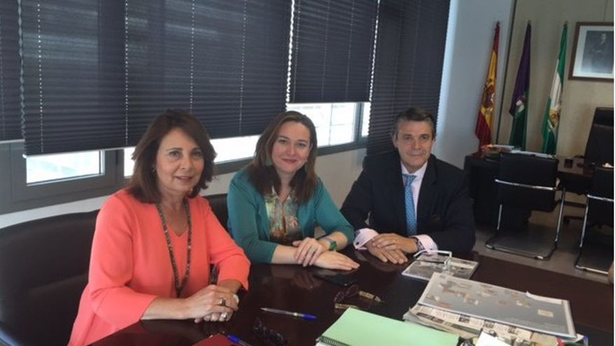 Pablo González, hermano del expresidente de la Comunidad de Madrid en una reunión | Ayuntamiento de Málaga.