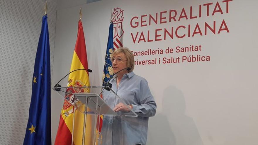 La consellera de Sanidad, Ana Barceló, en rueda de prensa.