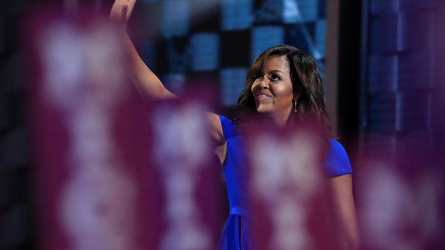 La noche triunfal de Michelle Obama