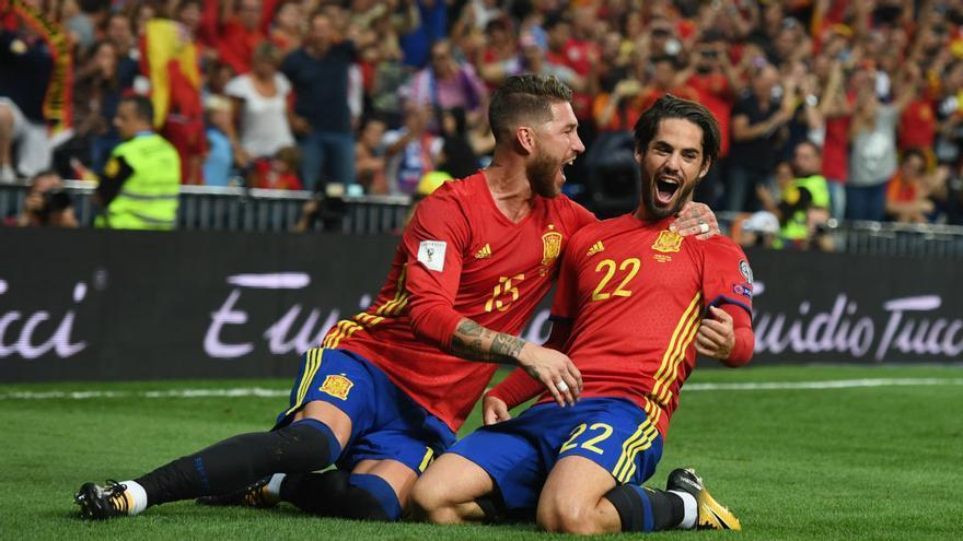 Sergio Ramos e Isco, los máximos representantes del fútbol español en estos momentos