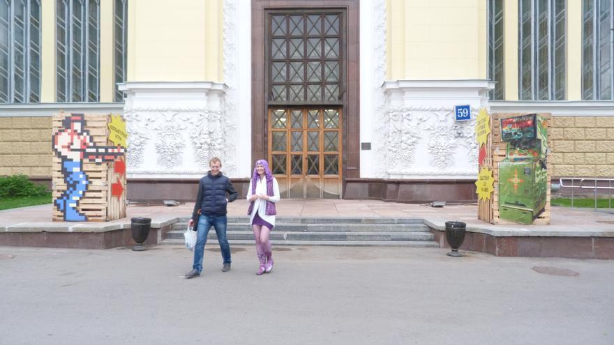 Entrada a la exposición de máquinas recreativas soviéticas. VDNKh, Moscú. Mayo 2015. Foto: Àngel Ferrero.