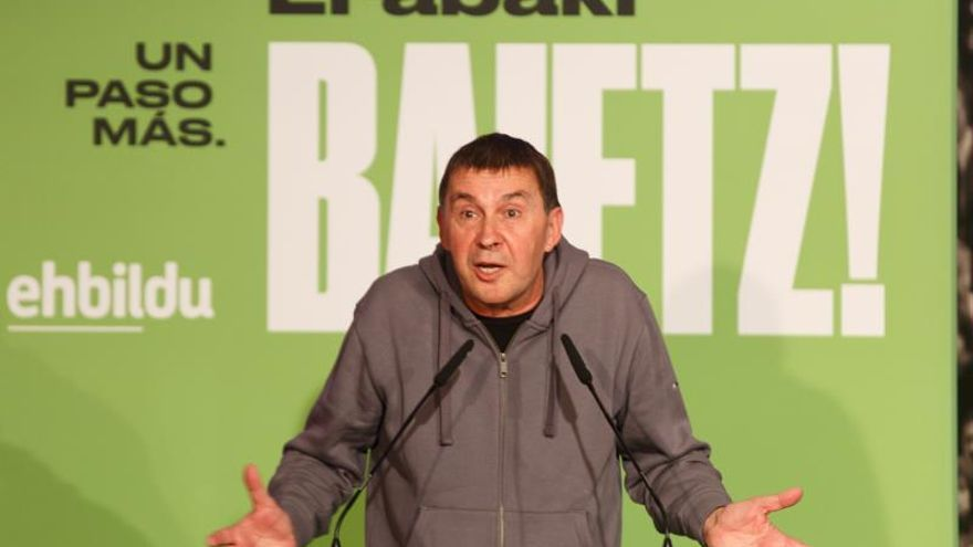 Otegi: Si Sánchez opta por el PP tendrá enfrente a todos los soberanistas