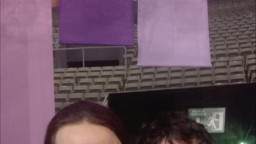 Nicola Fratoianni y Pablo Iglesias, en Vistalegre 2.
