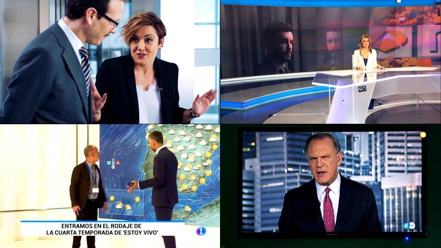 Los presentadores de TV dan las noticias en series y cine