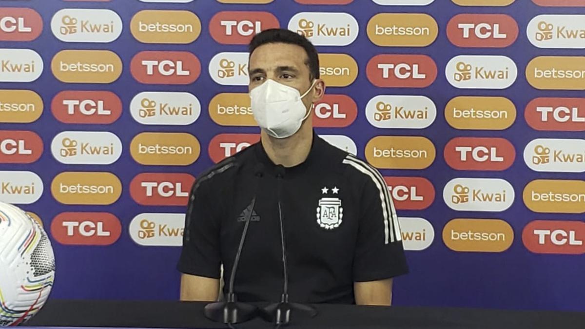 El DT de la Selección Argentina. Lionel Scaloni