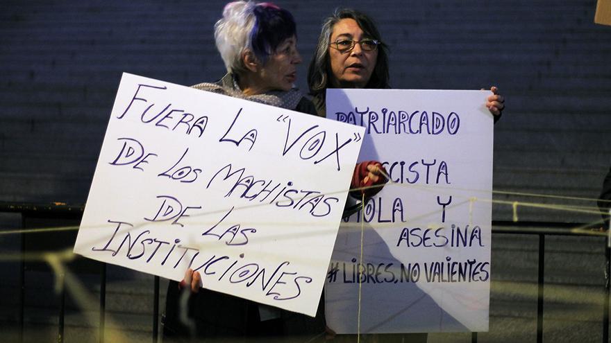 Manifestación 'Contra el fascismo' y en memoria de Laura Luelmo.   JUAN MIGUEL BAQUERO