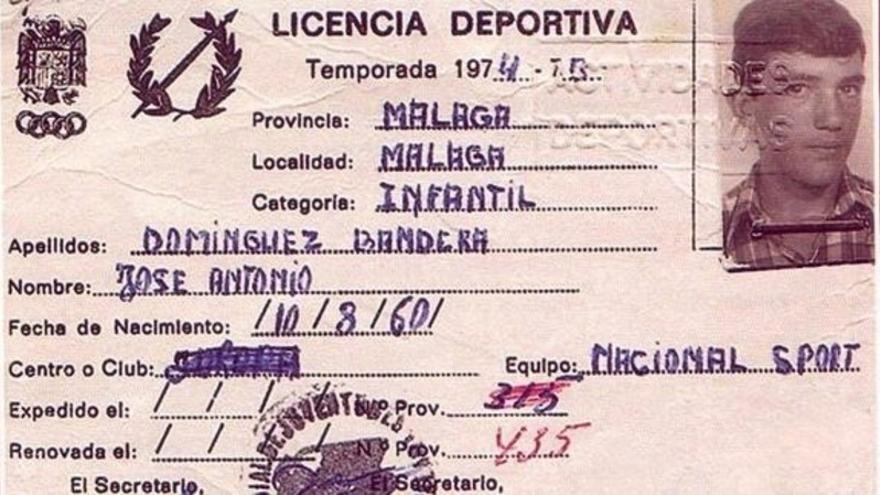 Licencia deportiva de Antonio Banderas en Málaga