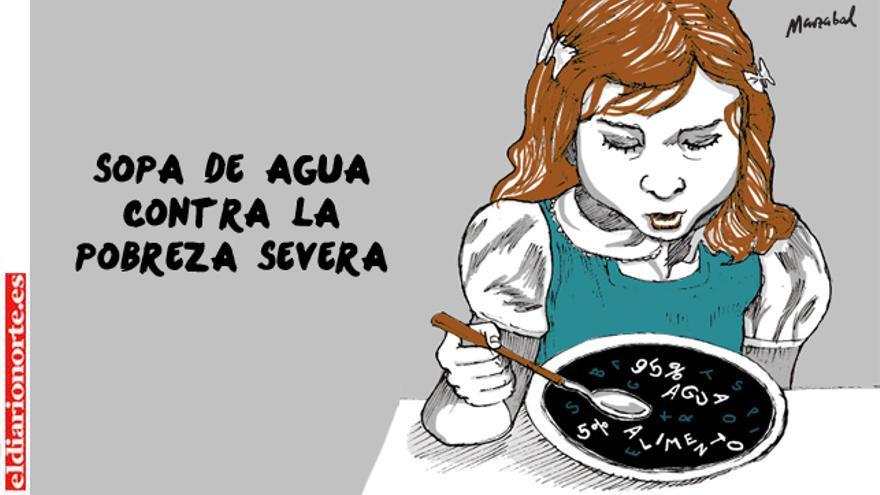 Sopa de agua para la pobreza severa