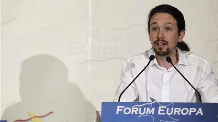 Pablo Iglesias, en junio pasado en una conferencia en el Hotel Ritz de Madrid.