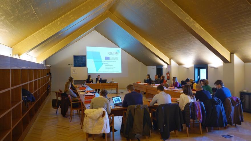 Visitan Navarra los socios europeos del proyecto CRE:HUB destinado a apoyar el desarrollo de pymes del sector cultural