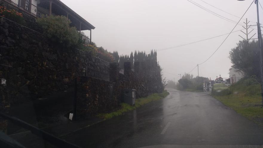 Lluvia en el municipio de Mazo este martes.