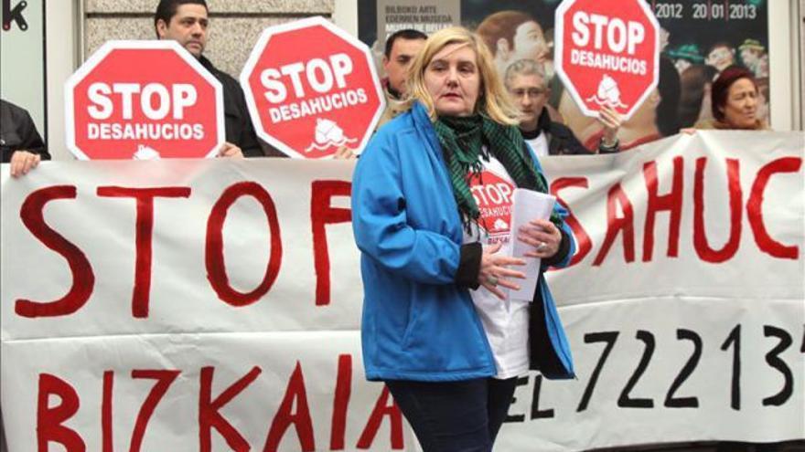 La coordinadora de Stop Desahucios Bizkaia, Marta Uriarte / EFE