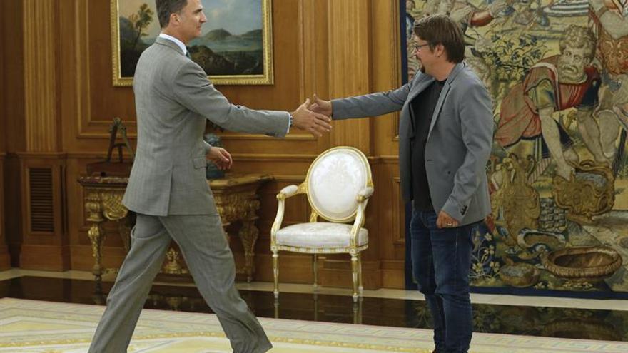 """El Rey traslada a Compromís su preocupación por el """"bloqueo"""" político"""