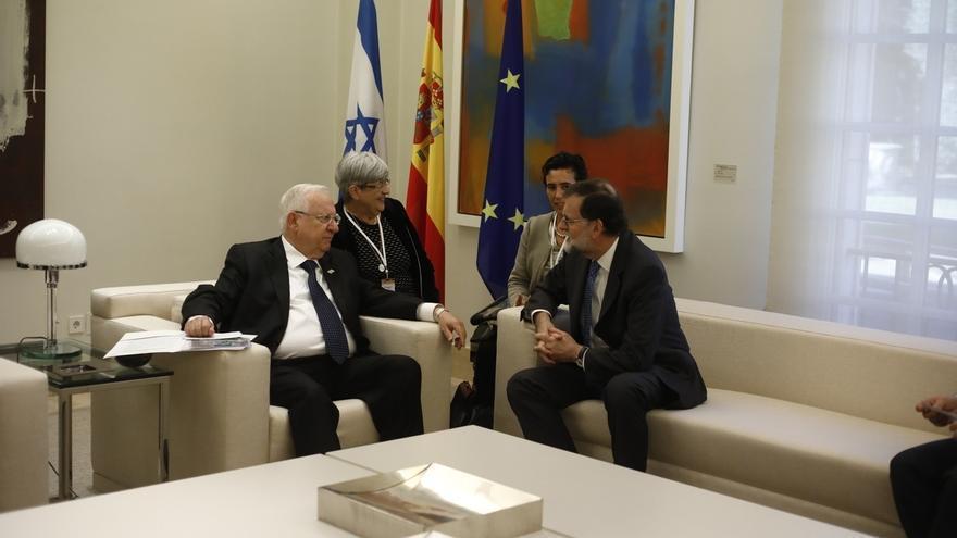 El presidente israelí reitera ante Rajoy su mensaje a favor de la unidad de España
