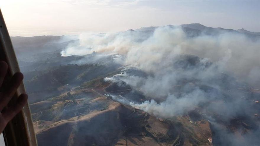 Vista aérea del incendio de Gran Canaria. (EFE)