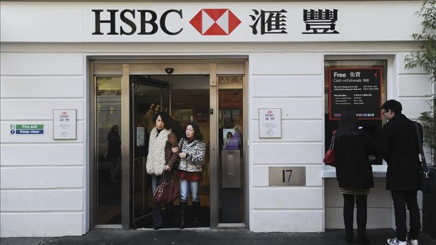 Una sucursal en China del banco HSBC