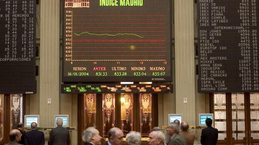 El palacio de la bolsa de Madrid.