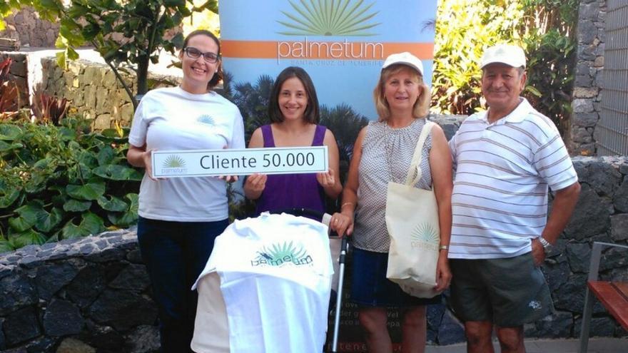 El Palmetum recibe a su visitante número 50.000