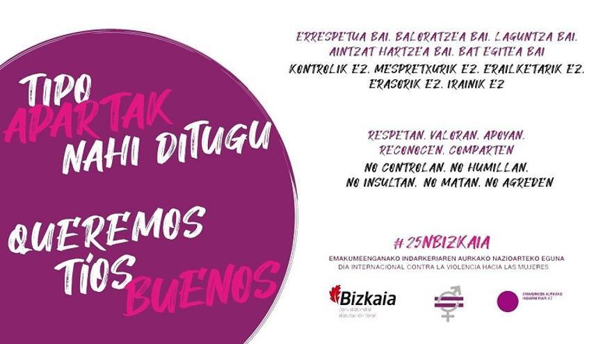Campaña de la Diputación de Bizkaia por el 25N