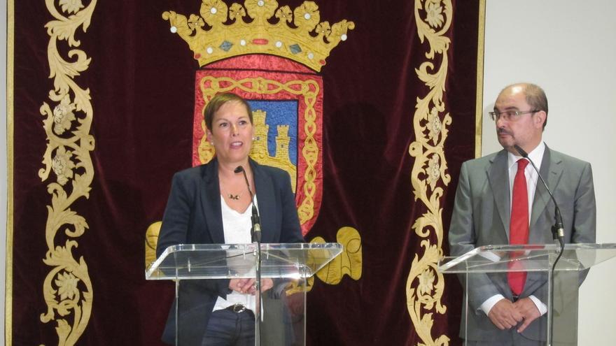 """Barkos y Lambán mantienen en Tudela un encuentro """"fructífero"""" para que ambas Comunidades trabajen conjuntamente"""