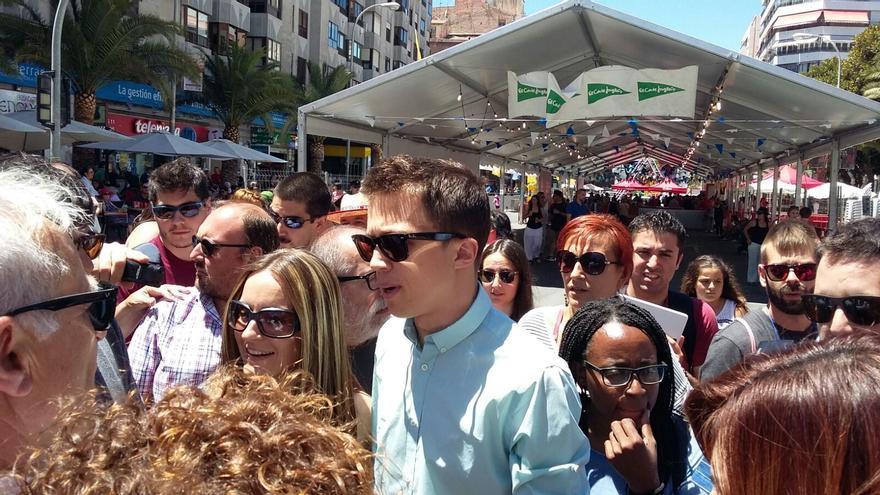 Errejón, este miércoles, en Alicante entre Ballester y Bosaho
